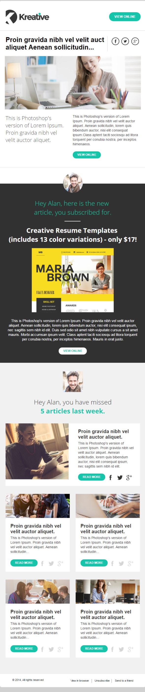 kreative-newsletter-template