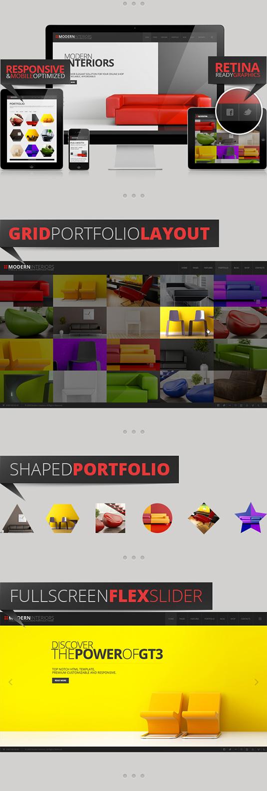 Modern Interior Responsive Bootstrap Template
