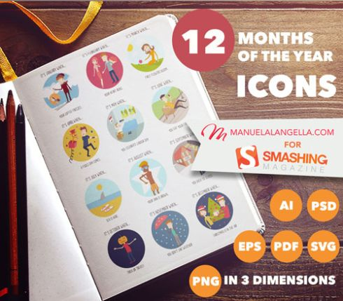 months-of-the-year-icon-set