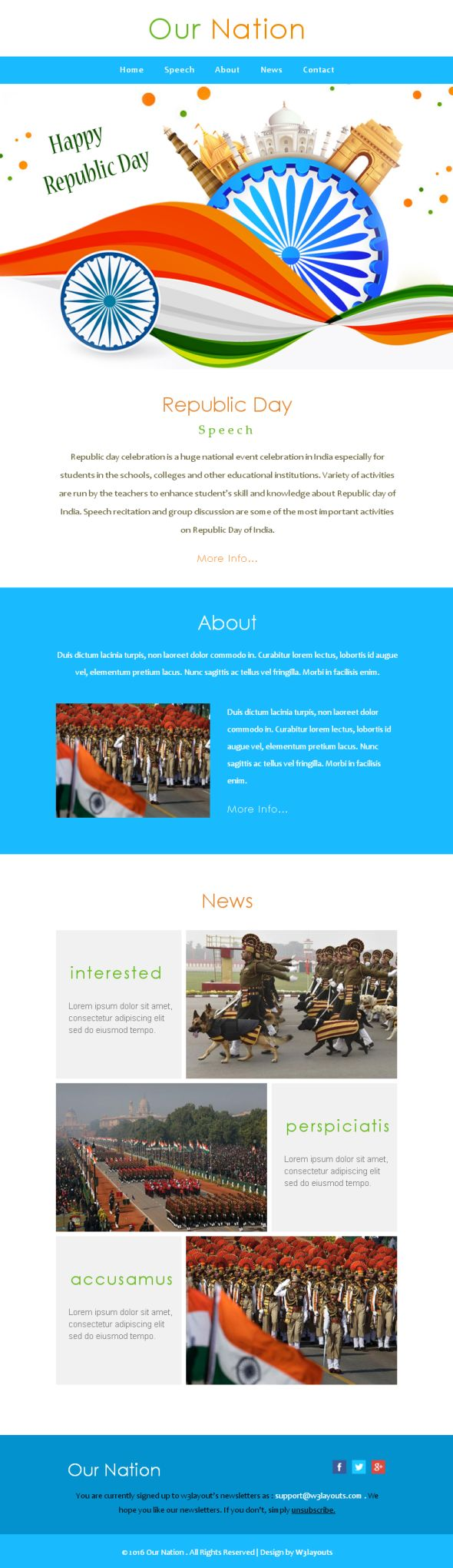 ournation-newsletter-template