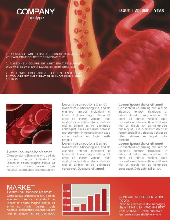 red-blood-newsletter-template