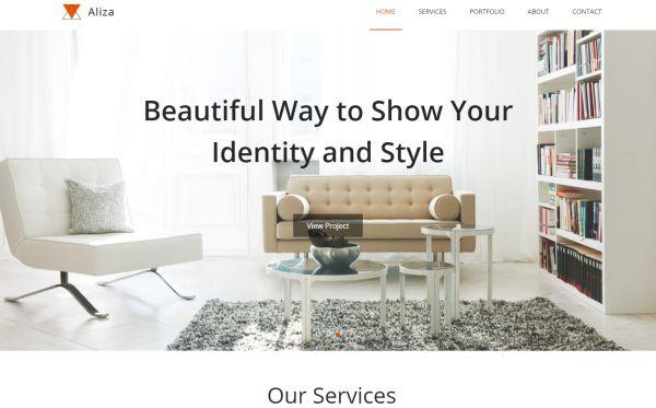 aliza-interior-one-page-template