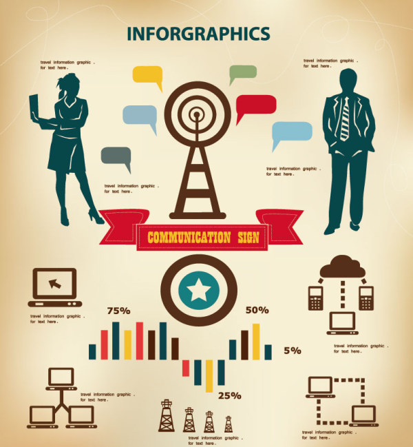 business-people-with-infographics-design-vector