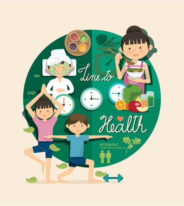 cartoon-character-health-infographic-vector