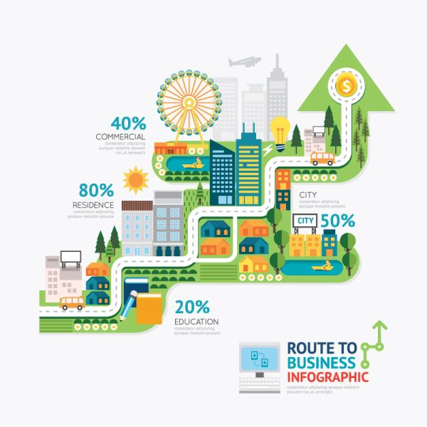 creative-business-route-information-map-vector