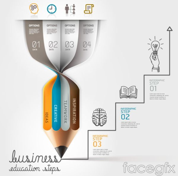 creative-pencil-infographic-vector