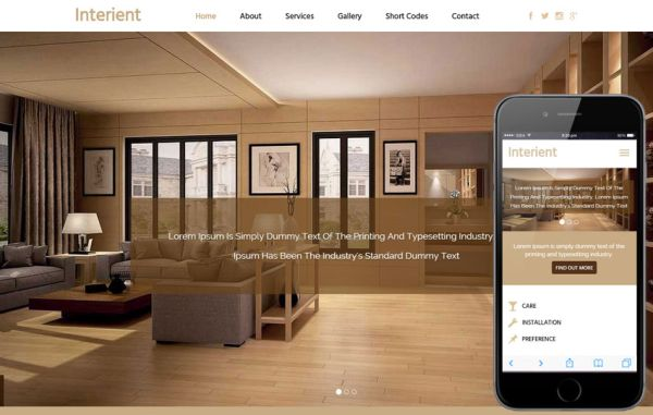 25 Lovely Interior And Furniture Html And Bootstrap Templates Free Premium Gt3 Themes