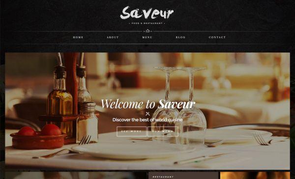 saveur-web-template