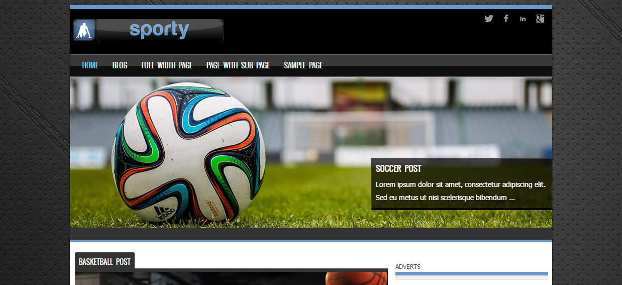 sporty-free-wordpress-theme