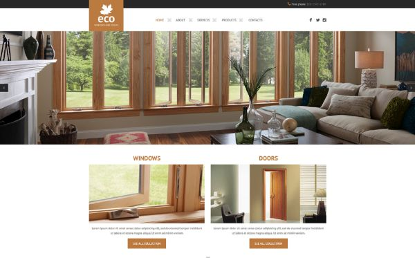 windows-and-doors-premium-website-template