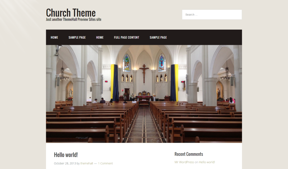 church-free-wordpress-theme