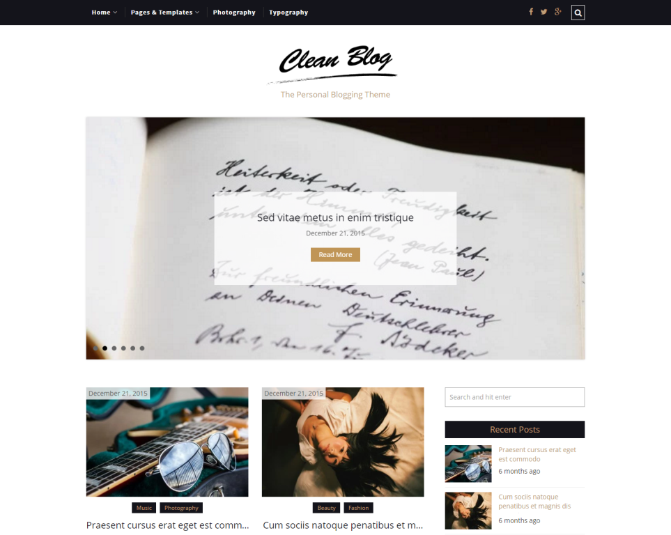 cleanblog-free-wordpress-theme