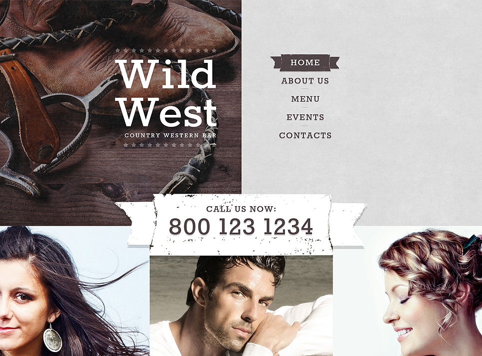 country-western-bar-website-template