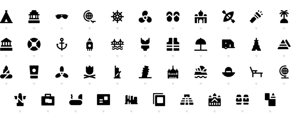 free-travel-icon-set