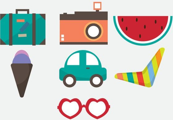 free-vacation-vector-icons