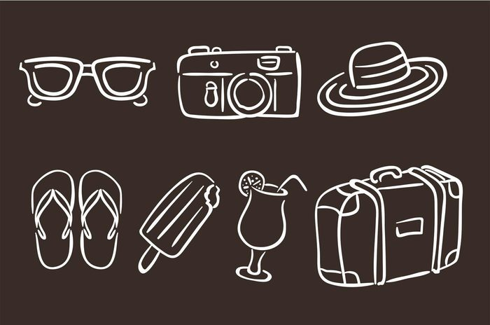hand-drawn-summer-vacation-icons-vector