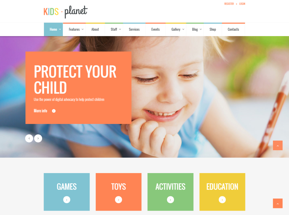 15 Fresh Free and Premium Kids-Oriented WordPress Themes | GT3 Themes