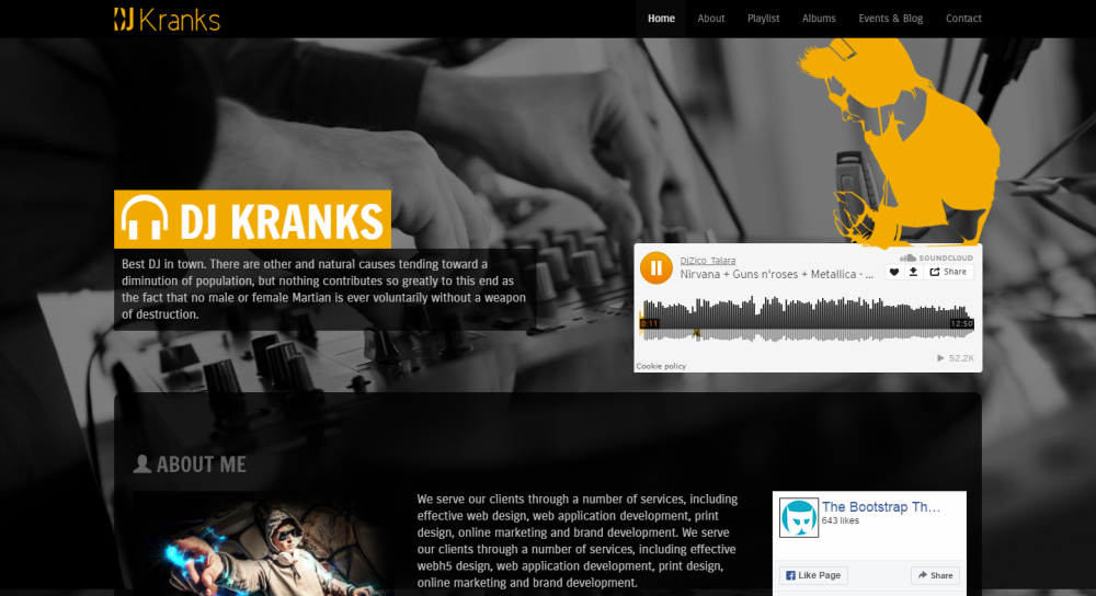 20 top notch html and bootstrap music website templates free and music free bootstrap template maxwellsz