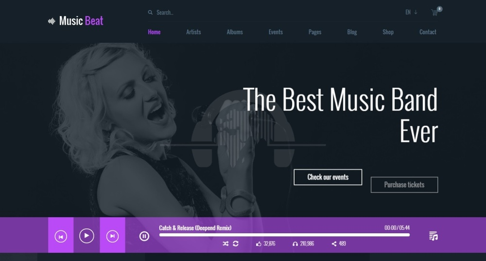 20 top notch html and bootstrap music website templates free and musicbeat premium html template maxwellsz