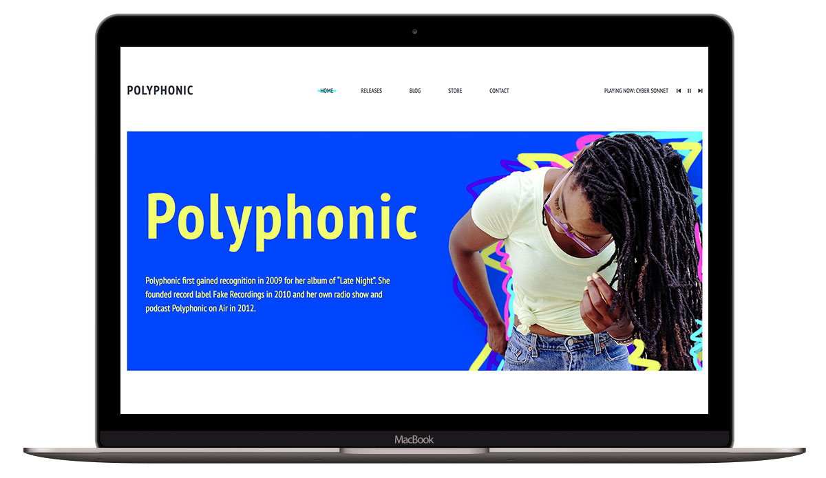 polyphonic-html-template