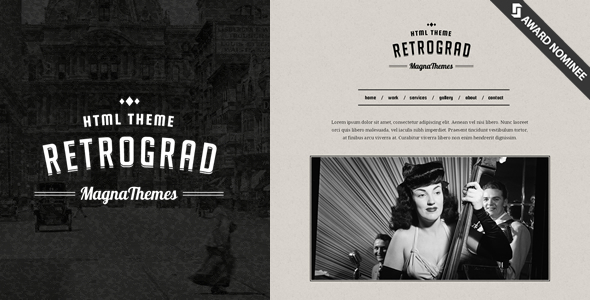 retrograd-vintage-html-template
