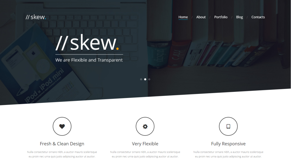 Skew - Creative One Page & Multipage WordPress Theme