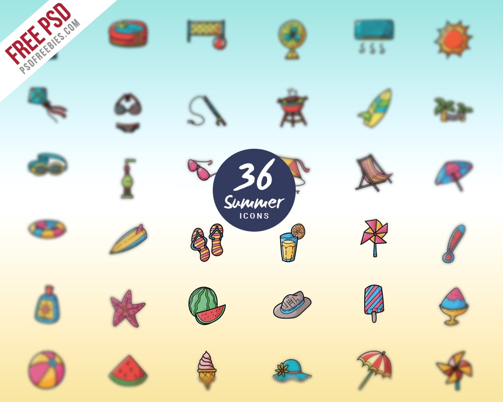 summer-vacations-and-holidays-icon-set-free-psd