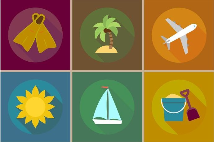 vector-beach-vacations-flat-icons