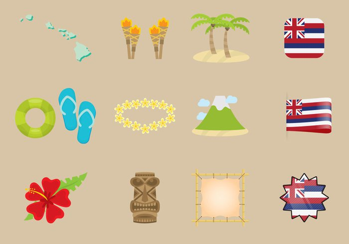 vector-hawaiian-icons
