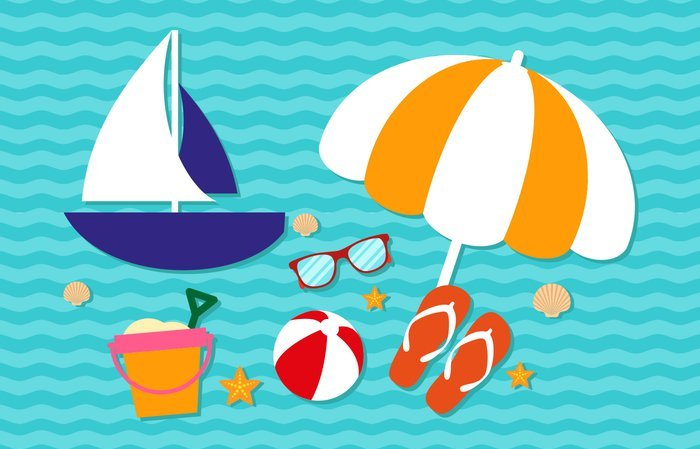 vector-summer-cute-vacation-elements