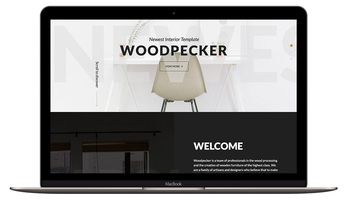 woodpecker-html-template