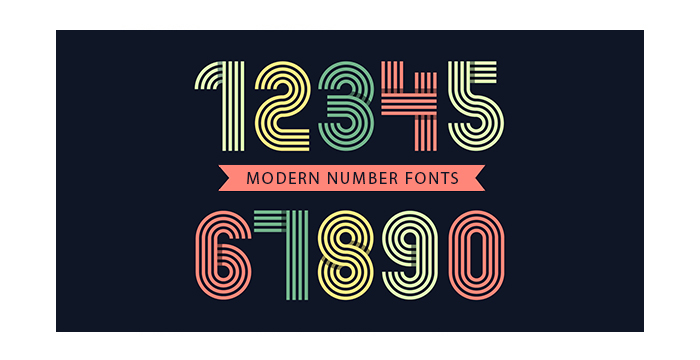An Amazing Bunch of Modern Number Fonts for Your Design Projects