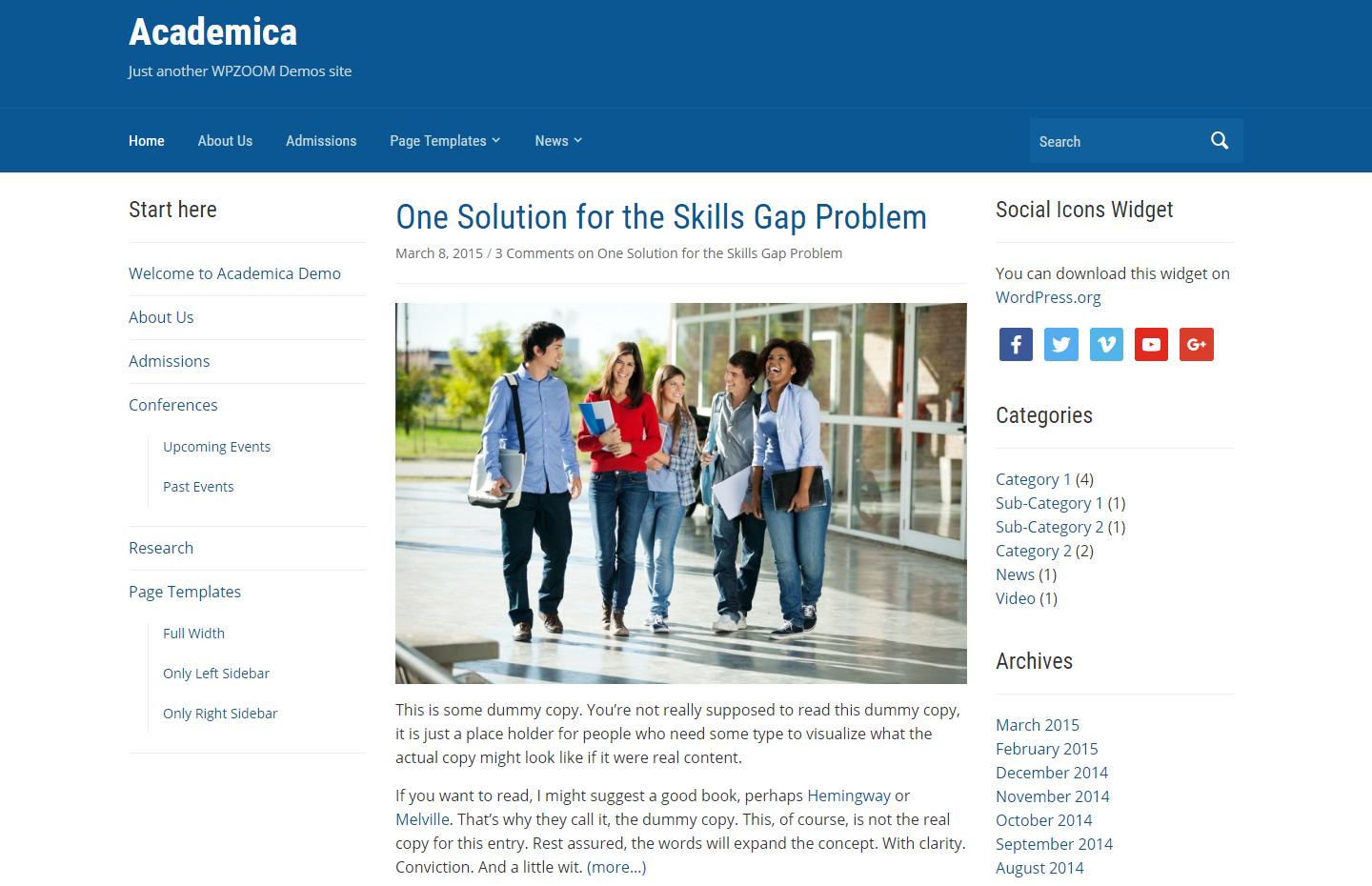 academica-free-wordpress-theme