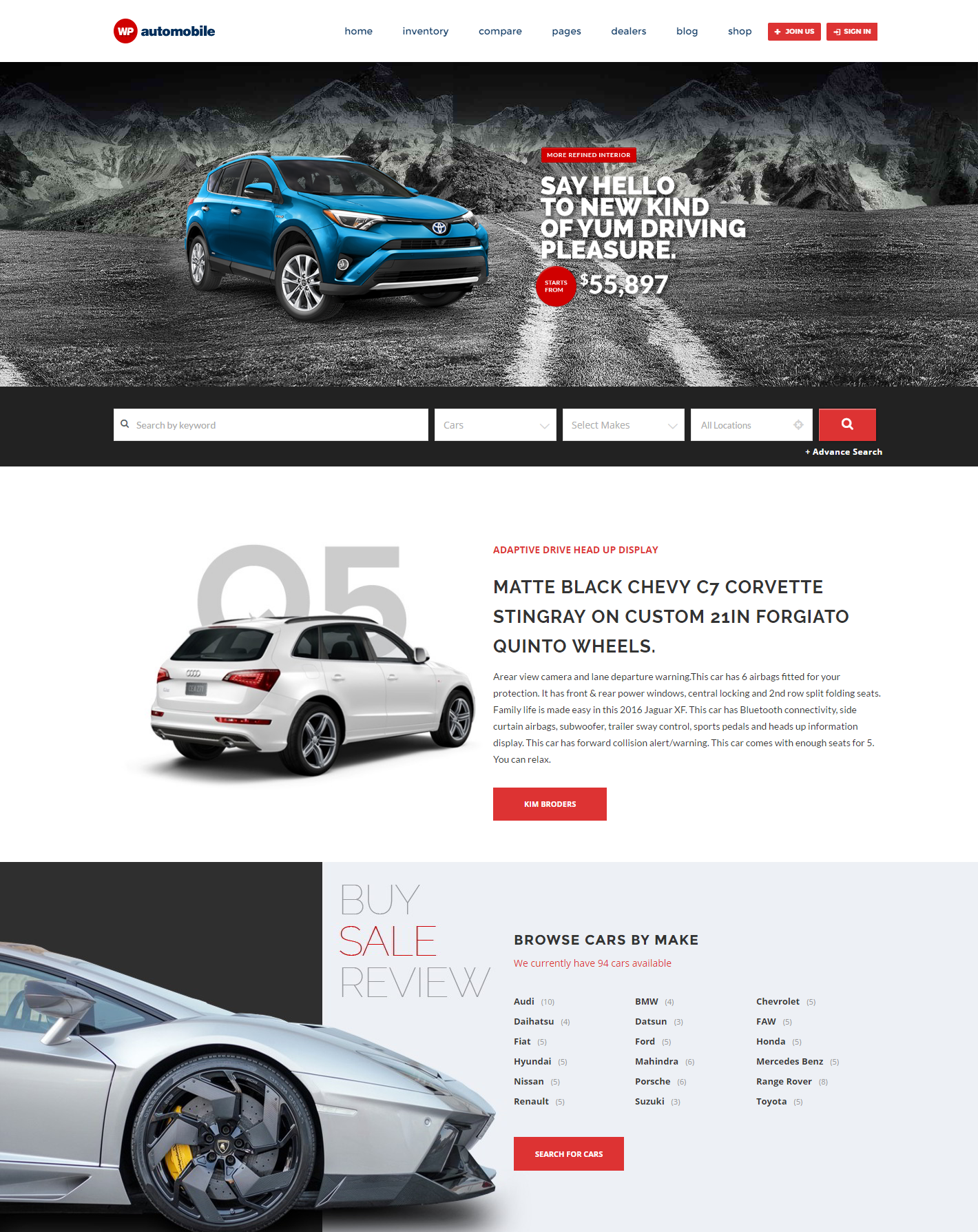 automobile-premium-wordpress-theme