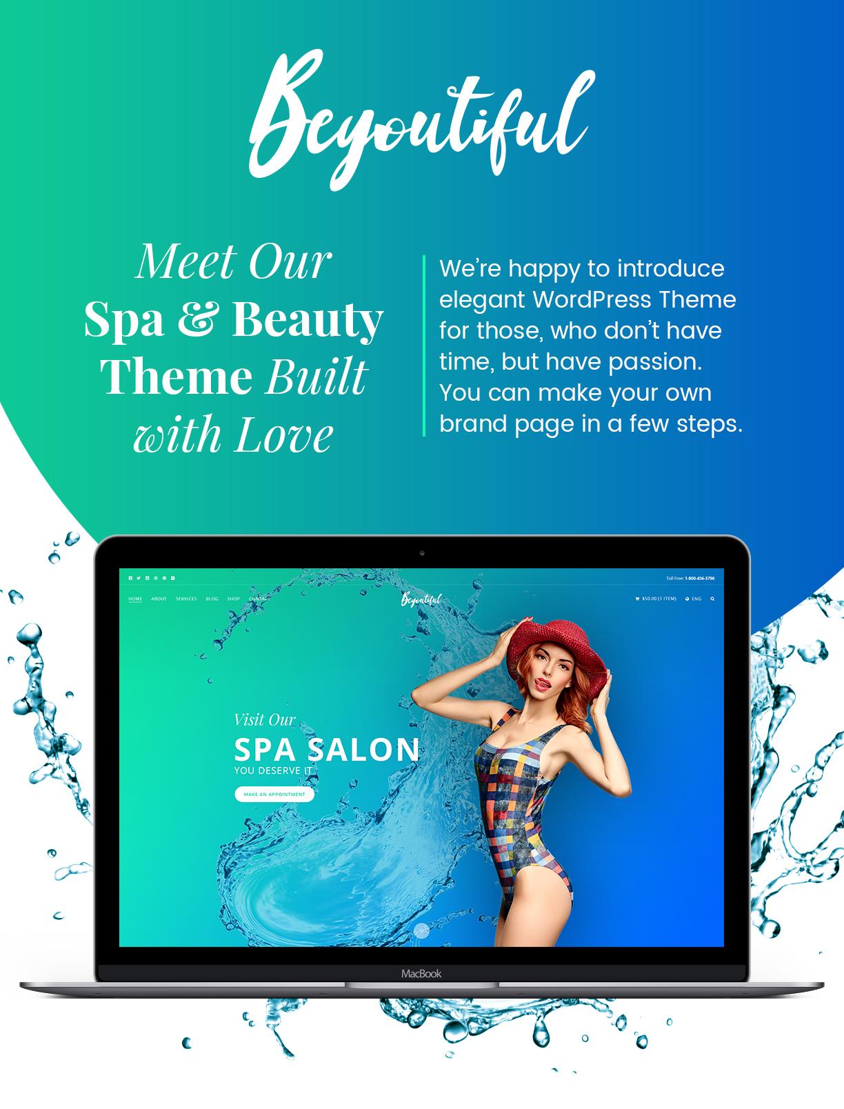 Spa beauty and hair salon wordpress theme beyoutiful for Address beauty salon