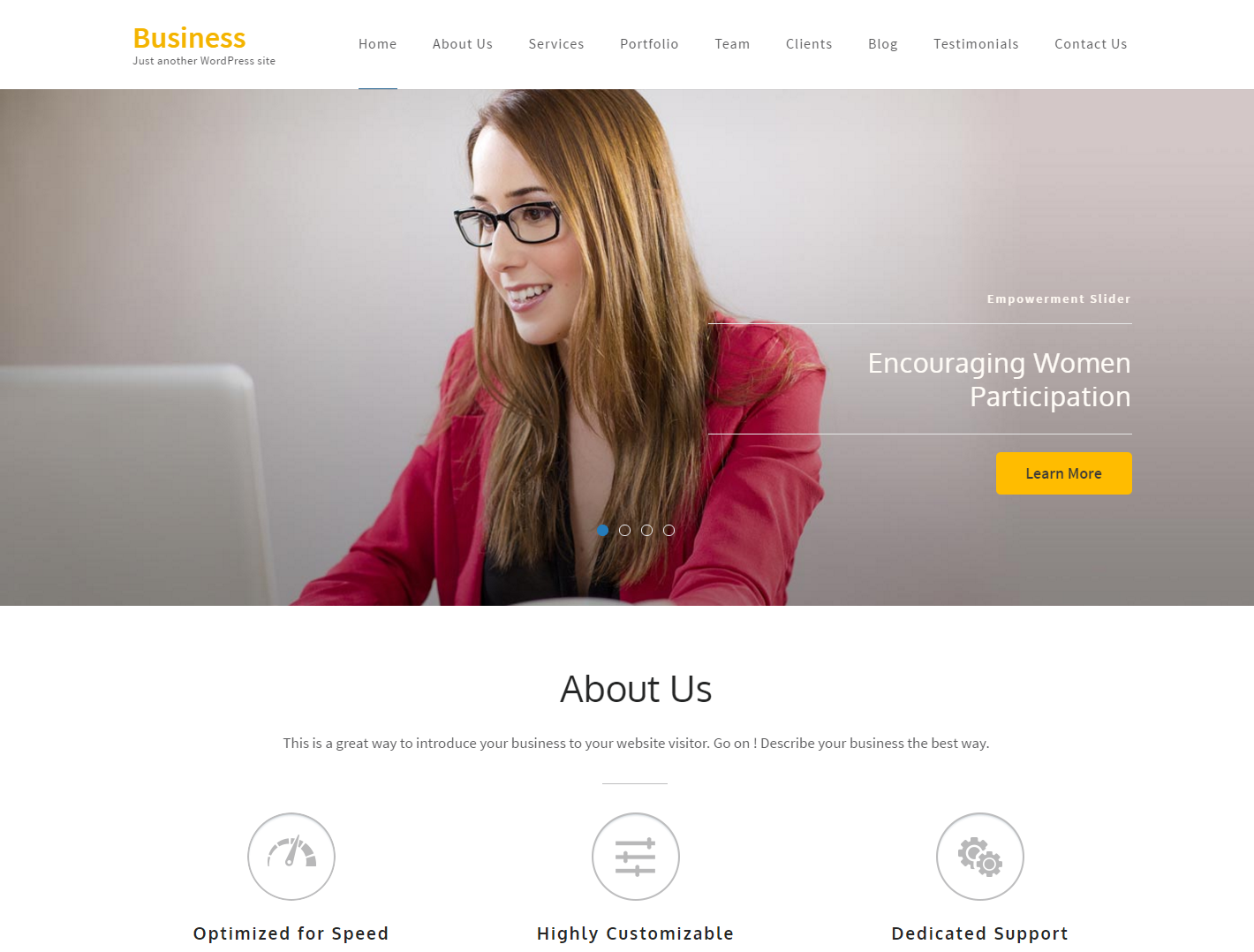 business-one-page-free-wordpress-theme