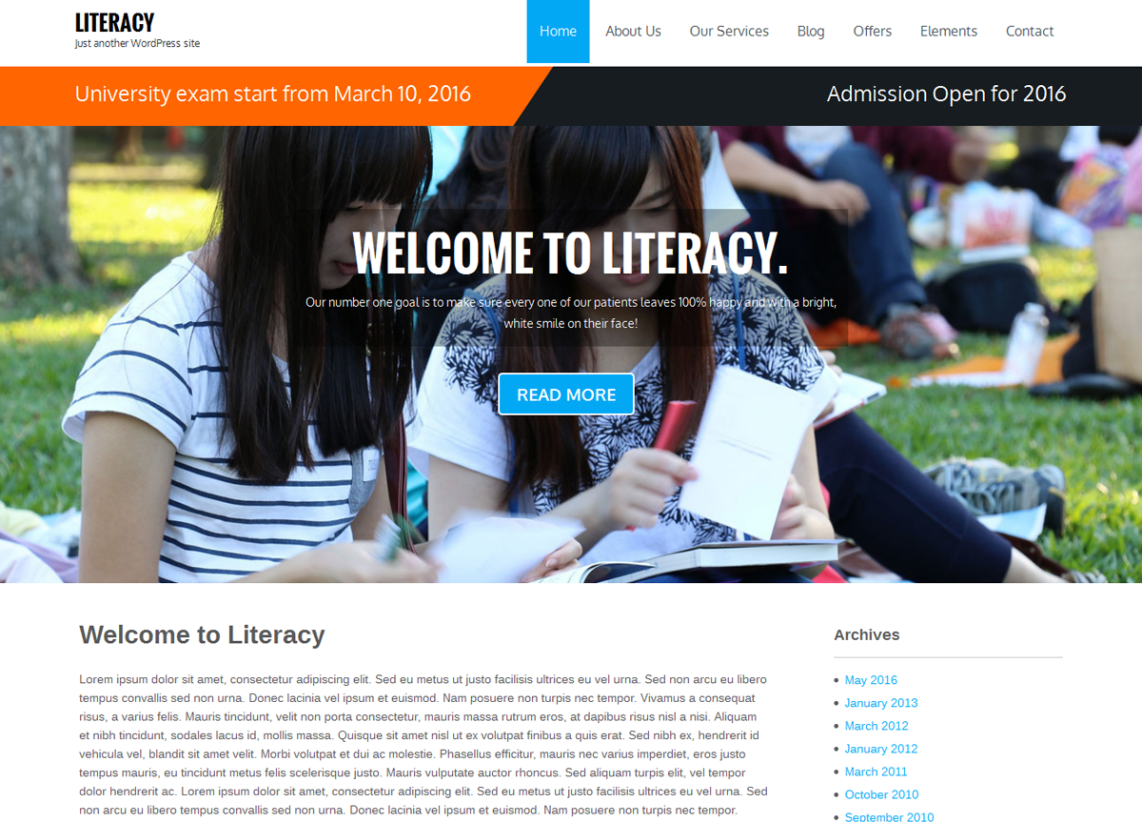 literacy-free-wordpress-theme
