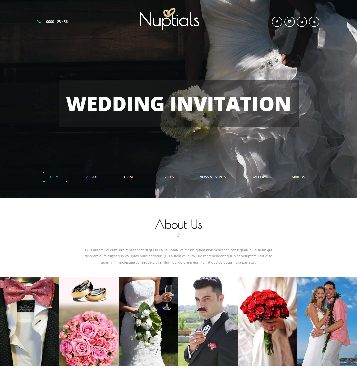 Nuptials Free Html Template