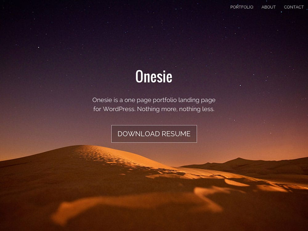 onesie-free-wordpress-theme