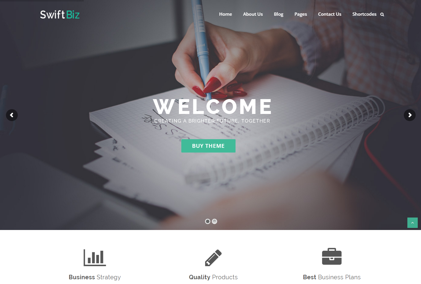 swiftbiz-free-wordpress-theme