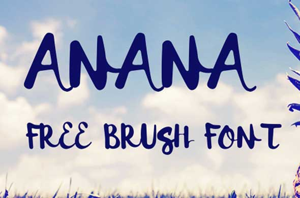 anana-free-brush-fFont