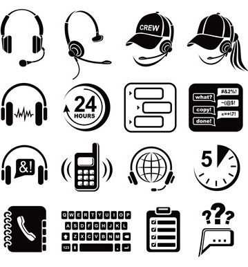 call-center-simple-style-premium-icon-set