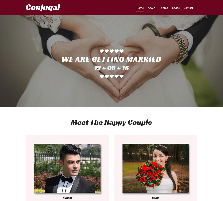 conjugal-free-hmtl-template