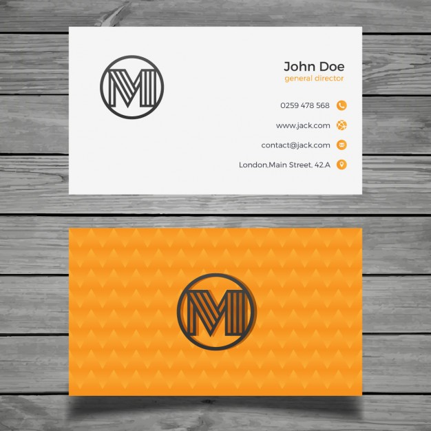 free-beautiful-orange-business-card-mockup