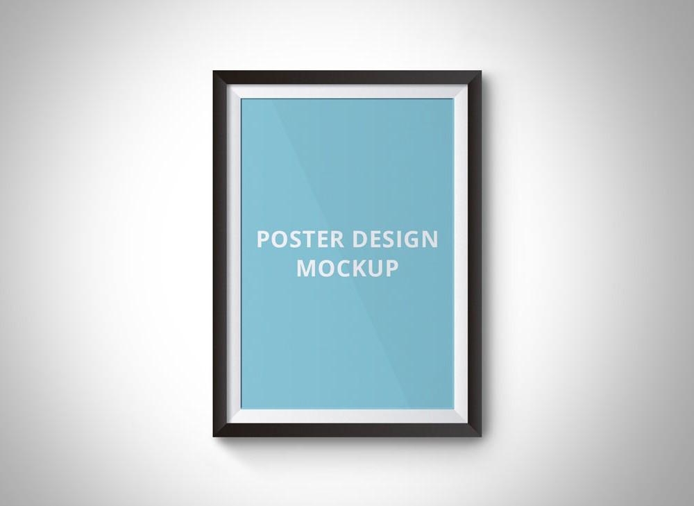 free-simple-poster-frame-mockup