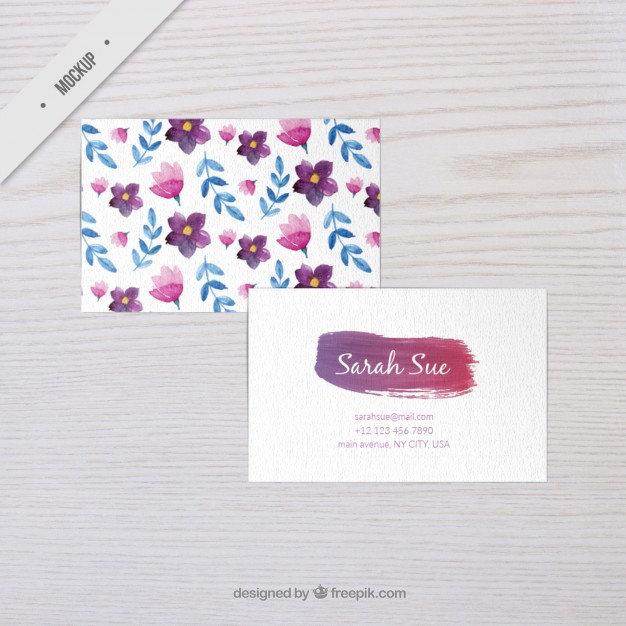 free-watercolor-flowers-corporative-card-mockup