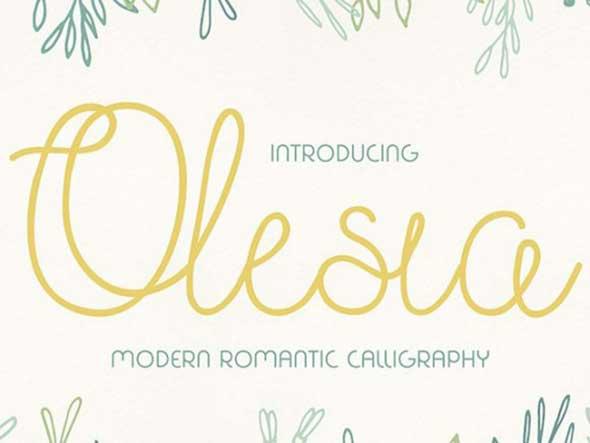 olesia-free-font