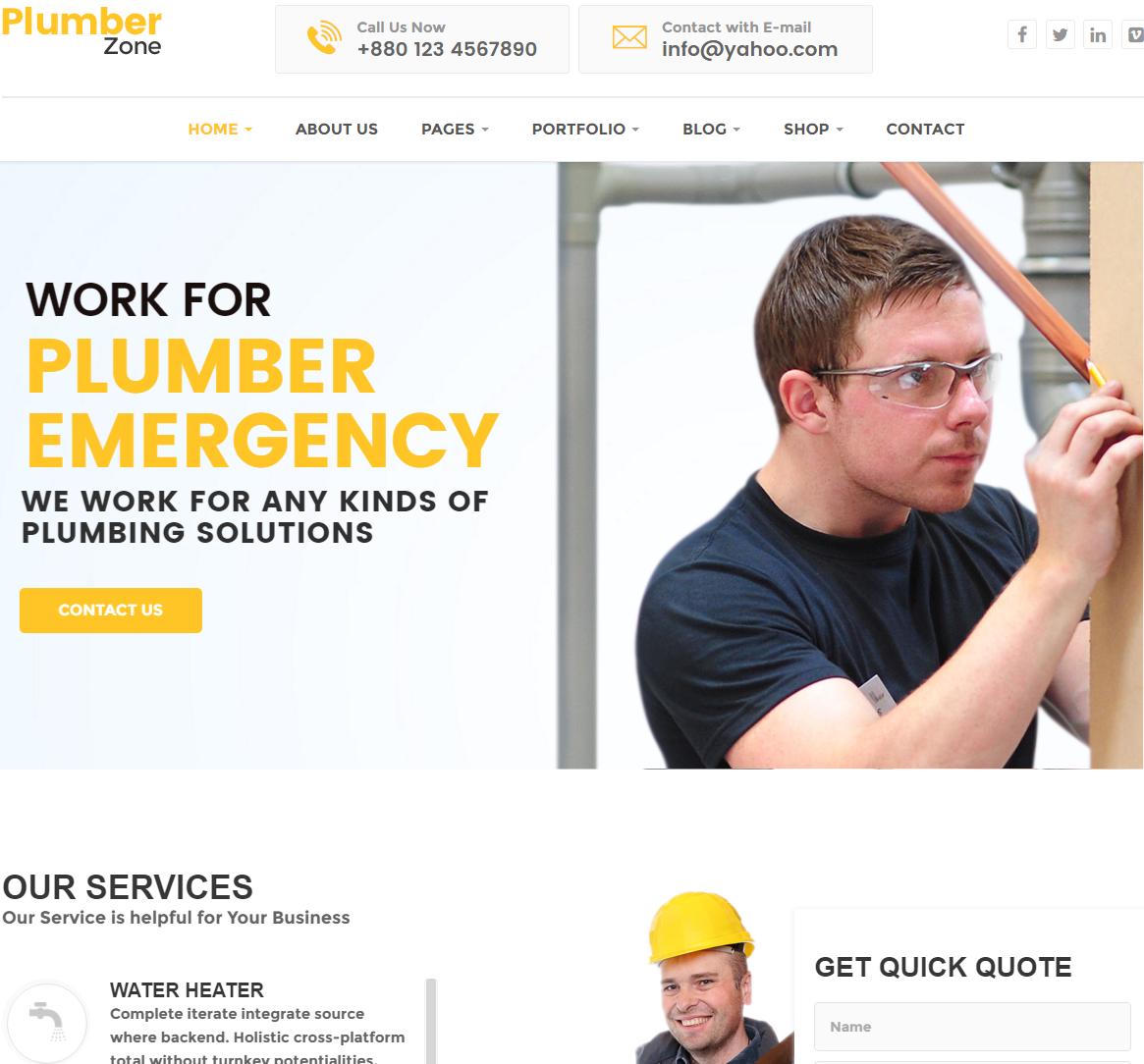 plumber-zone-premium-wordpress-theme