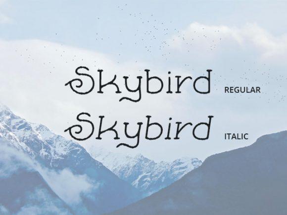 skybird-free-font