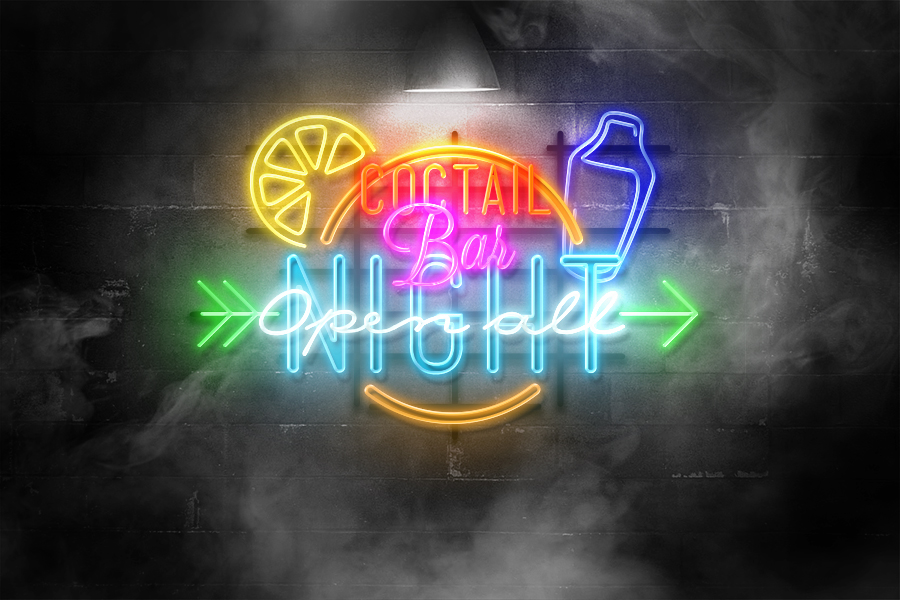 free-neon-mockup-styles